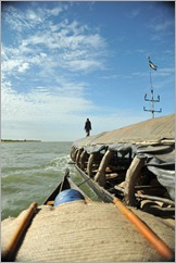3b. Our pirogue attached to pinnace.Timbuktu to Ouagadougou 039