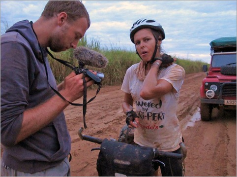 2c. Slipped in the mud damaging same elbow as in Cameroon