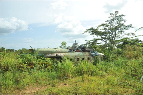 4a. Russian helicopter, remnant of the civil war