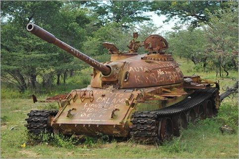7a. Remnants of battle, near Xangongo