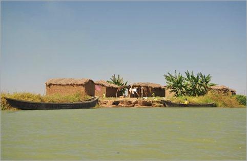 6a. Village near lake's entrance