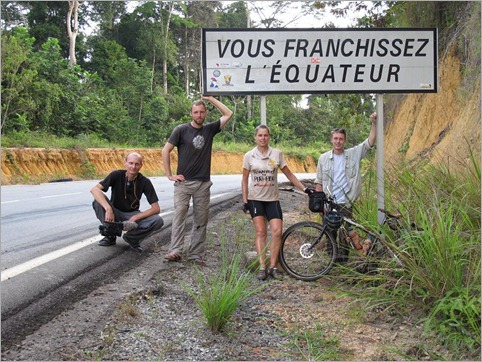 3b. Crossing the Equator, Gabon just before turning off